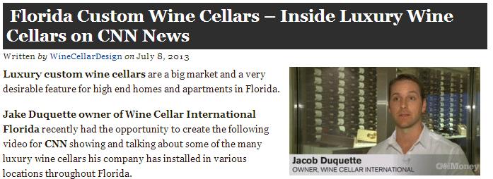 Wine Cellar International on Custom Wine Cellars Miami Florida
