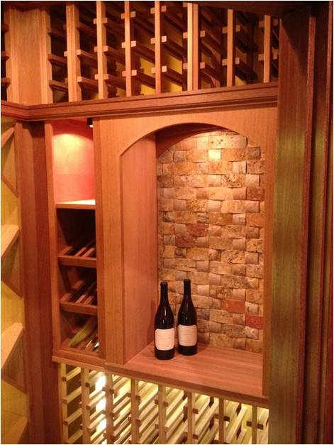 wine rack with led lights cellar lighting