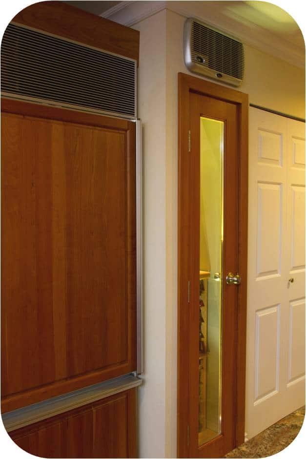 Florida wine cellar door and cooling unit